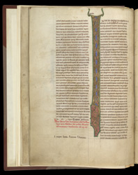 Illuminated Initial, In A Volume Of The Works Of John Of Salisbury f.7v